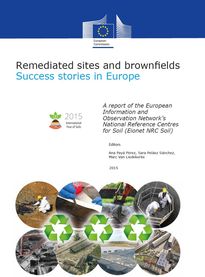"""Foto VEGA citato come caso di successo nella pubblicazione ISPRA della Commissione Europea """"Remediated sites and brownfields"""""""