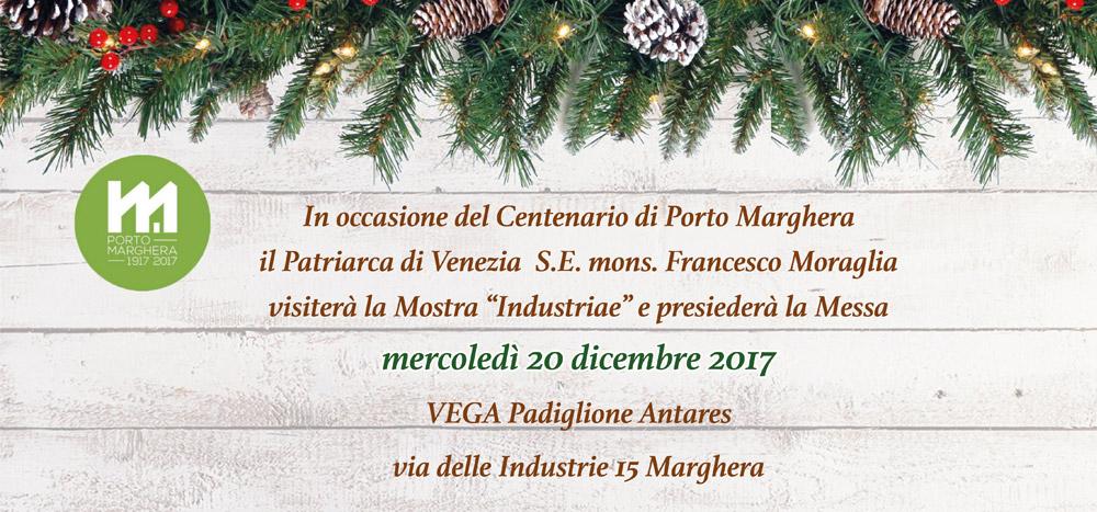 Foto Centenario di Porto Marghera: visita e messa del Patriarca di Venezia, oggi al Padiglione Antares